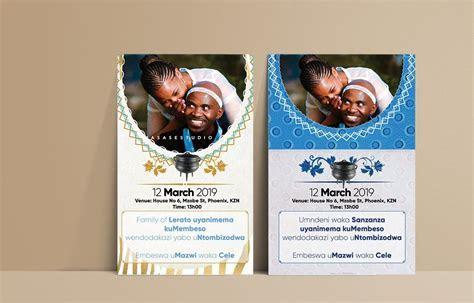 Shweshwe Traditional Wedding Invitation Cards   Gallery