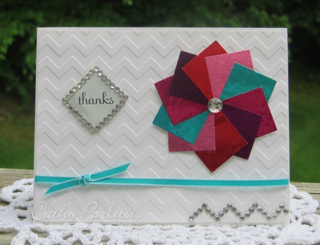 Thank You Card With Craft Metal And Chevron Stampsandscrapbookscom