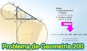 Problema de Geometría 200 (ESL): Triangulo Rectángulo, Hipotenusa, Inradio, Circunferencias Inscrita y Exinscritas, Puntos de Tangencia, Tangentes, Congruencia.