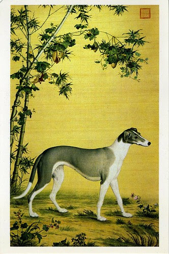 Hound Under the Shade of Bamboo - LANG Shining (Giuseppe Castiglione) (Qing Dynasty)