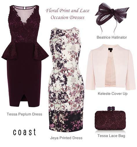 Coast Lace Peplum Dress Floral Print Shift Occasion Dresses