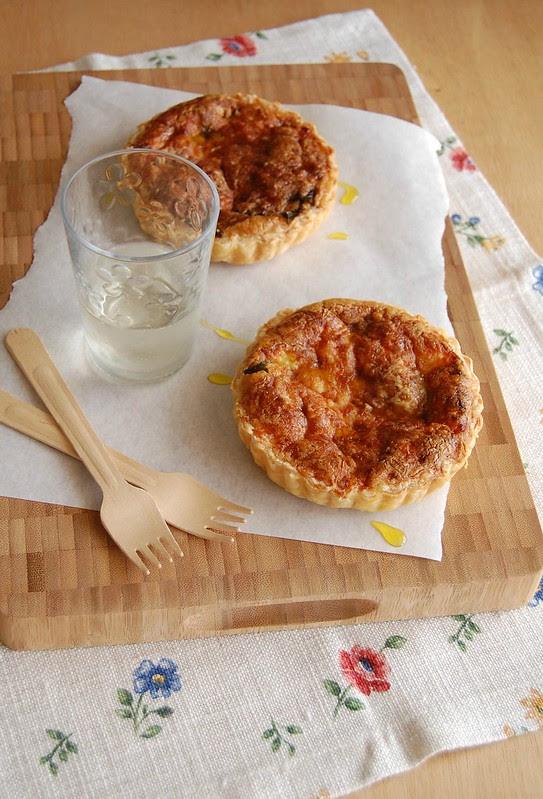 Ham and arugula quiche / Quiche de presunto e rúcula