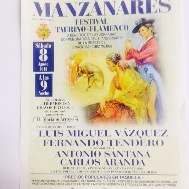 PRESENTACION CARTEL CORRIDA MIXTA EN MANZANARES (CIUDAD REAL)