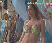 Debora Monteiro sensual nas novelas Paixão e Mar Salgado