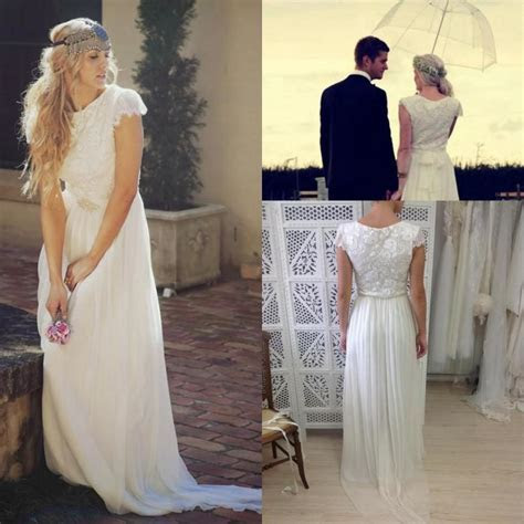 Romantic Bohemian Beach Wedding Dresses 2016 Sash Garden