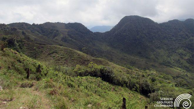 Volcán El Escondido, Colombia.
