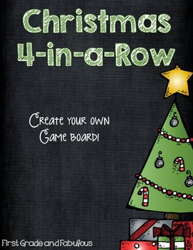 Christmas-4-in-a-row Freebie---First Grade and Fabulous