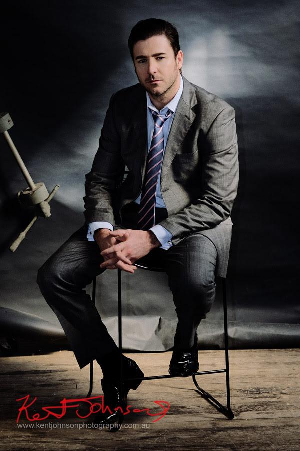 Male Modelling Portfolio, Crumpled suit, mood shot