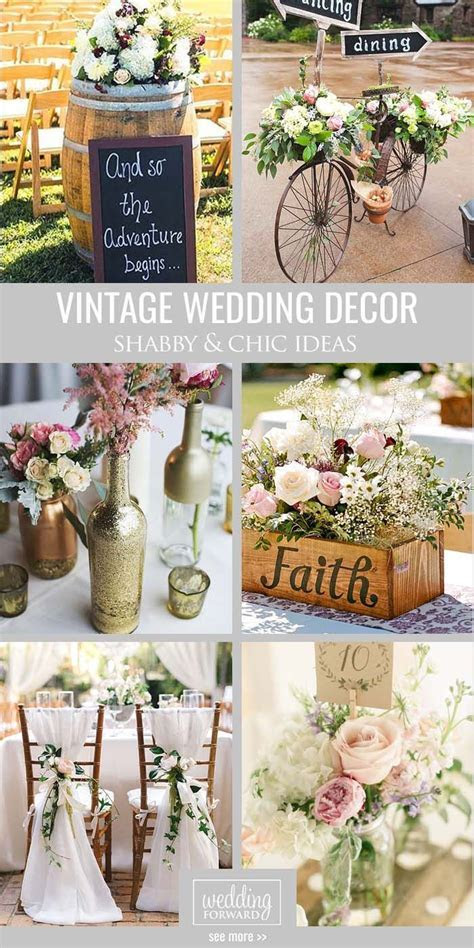 Shabby & Chic Vintage Wedding Decor Ideas   Alex and
