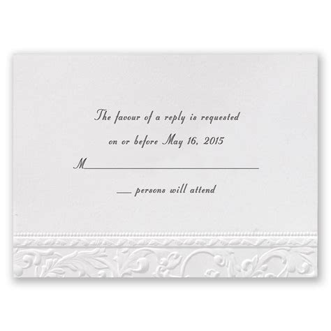 Vintage White Response Card   Invitations By Dawn