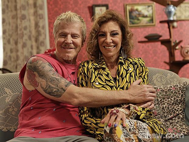 Darlene e Ruço juntinhos de novo! (Foto: Fábio Rocha/ TV Globo)