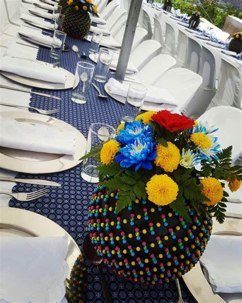 Shweshwe table design   traditional Ceremonies   Wedding