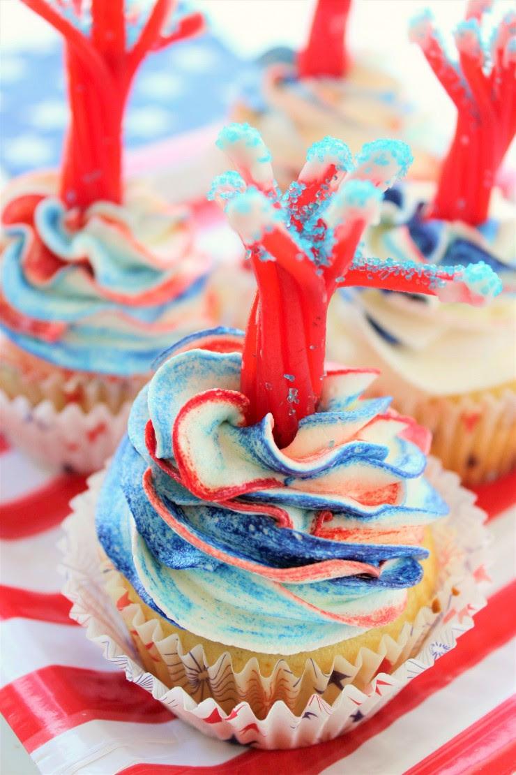 Firecracker Vanilla Cupcakes  Frugal Mom Eh!
