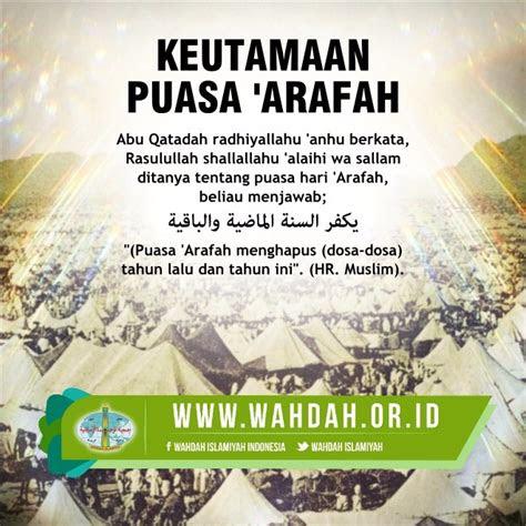 puasa hari arafah wahdah islamiyah