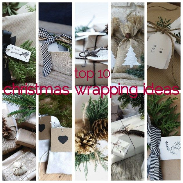 top 10 christmas wrapping ideas - by Myra Madeleine