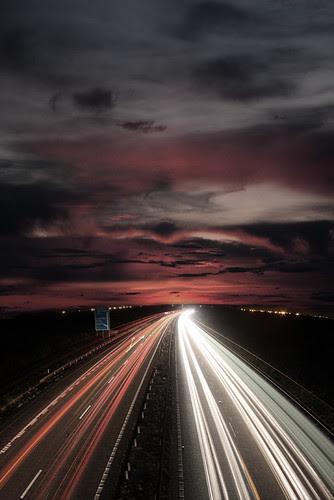 Motorway Sunset por william .