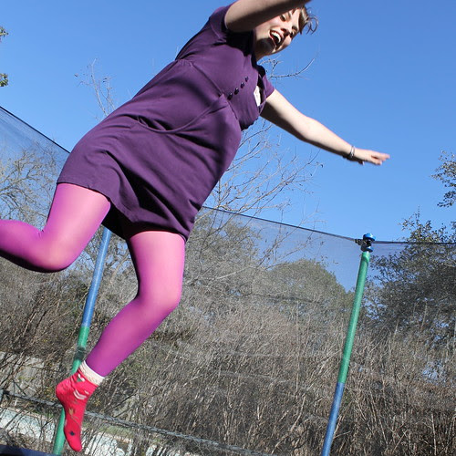 Me on the trampoline