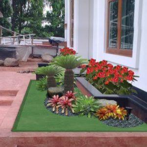 44 Koleksi Gambar Taman Depan Rumah Btn HD Terbaru
