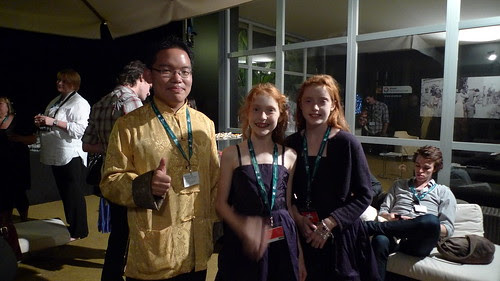 With the two child stars of the Norwegian short film STILL BIRDS