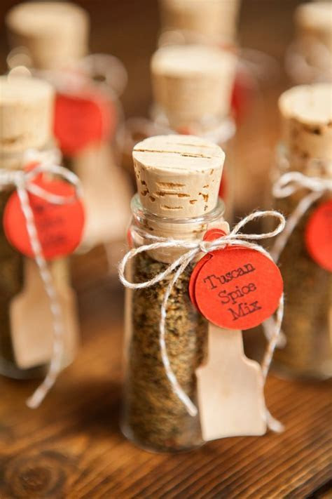 Make your own adorable spice dip mix wedding favors!   DIY