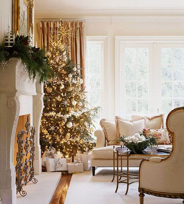 christmas decoration gold christmas ideas - White And Gold Christmas Decorations