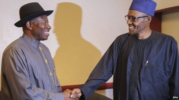 Image result for goodluck jonathan and buhari