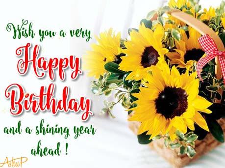 Sunny Birthday Flowers & Wishes! Free Birthday Wishes ...