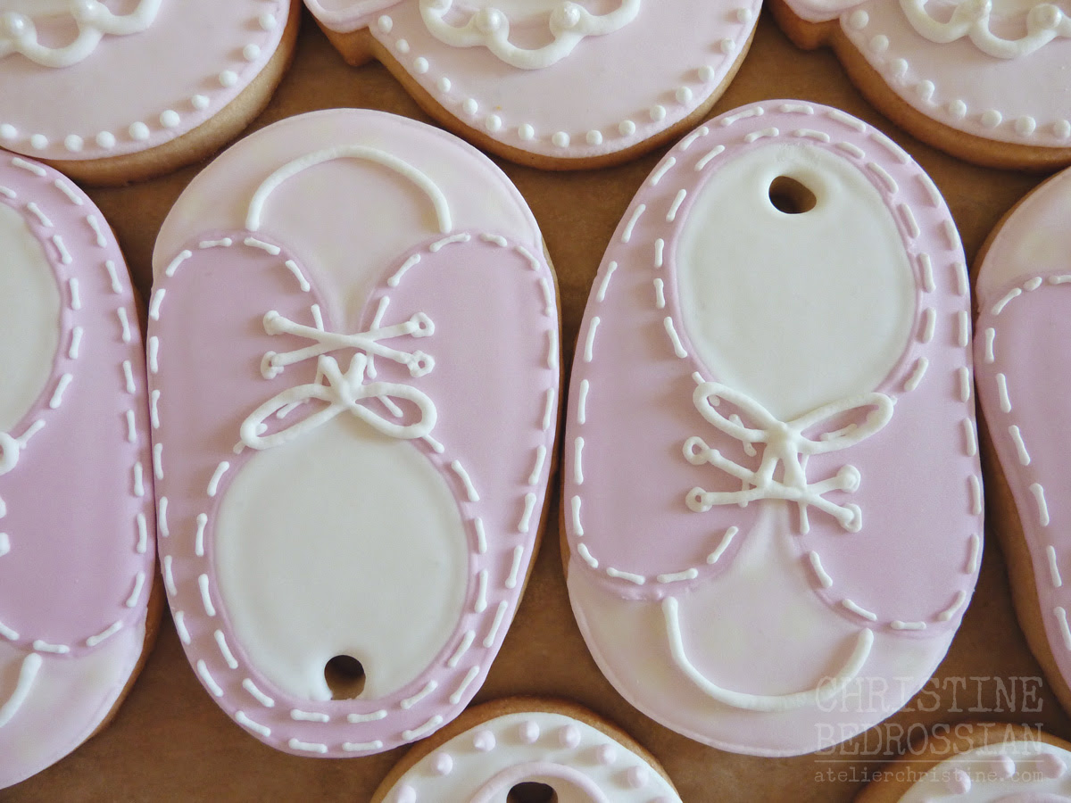 Le Shoppe Baby Shoe Sneaker Cookies To Match Baby Shower Theme
