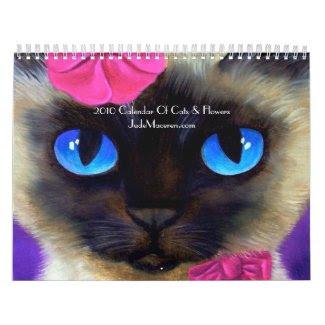 2010 Calendar Of Cats & Flowers Paintings calendar