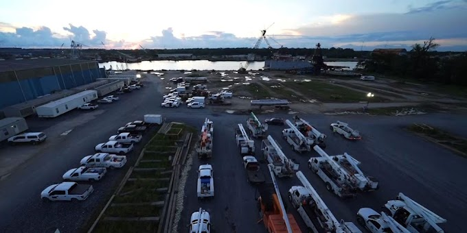 Tent city rises in effort to restore power after Ida