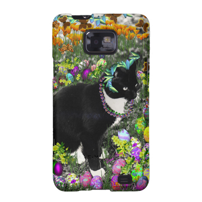 Freckles, Tux Cat, in the Hunt for Easter Eggs Samsung Galaxy SII Cover