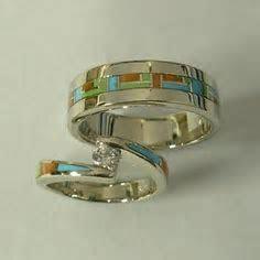 Native American Indian Navajo Wedding Rings Band Turquoise