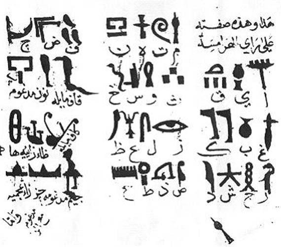 Traducción del antiguo alfabeto jeroglífico egipcio realizada en el 985 d. C. por Ibn Wahshiyya. (Public Domain)