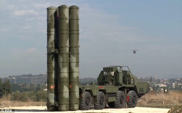 Russia's fearsome S-400 anti-aircraft missile systems (pictured) are capable of hitting targets 250miles away