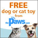 Get a Free Dog or Cat Toy from ThePaws.com
