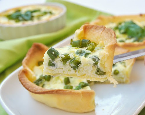 Green Beans and Ricotta Tartelettes