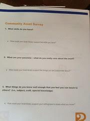 Community Asset Survey page 1