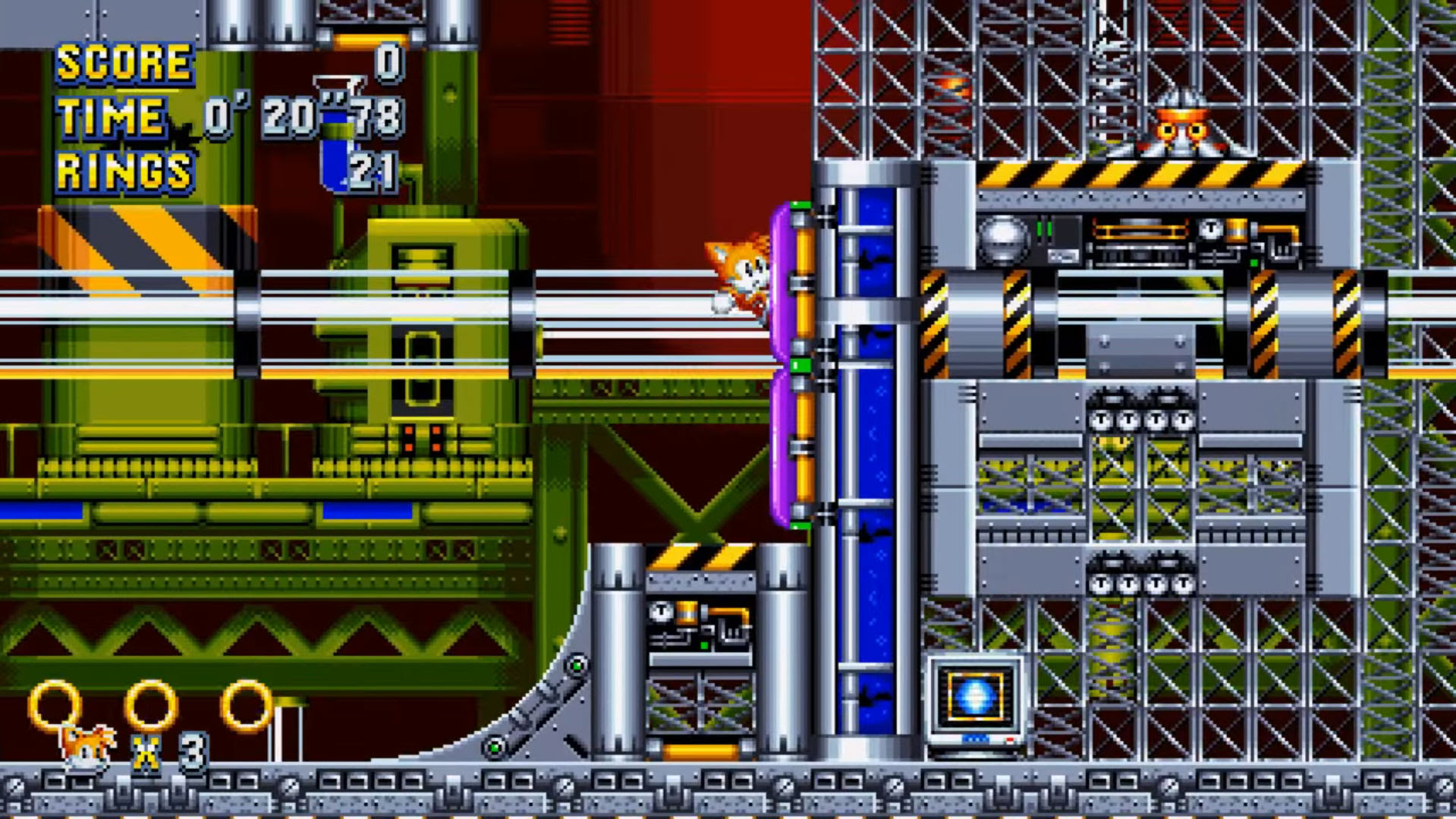 Sonic Mania reveals Chemical Plant Zone screenshot