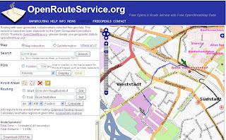 Open Route Service Fastest Route
