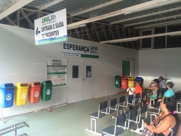 Bebê foi levado para a UPA de Cidade da Esperança, mas não resistiu (Foto: Kléber Teixeira/Inter TV Cabugi)