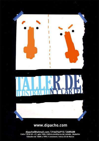 Cartel para taller de ilustración y cartel, 2011
