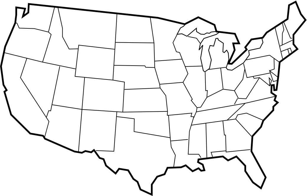 united states map without state names printable United States Map Without State Names Printable