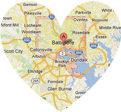 map of baltimore maryland