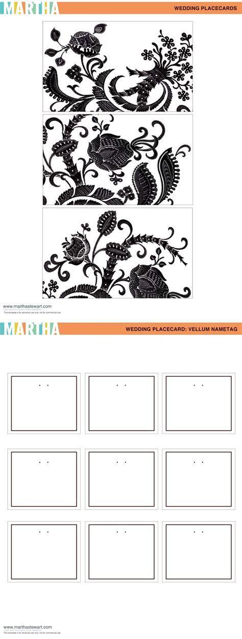 tag place card printables from Martha Stewart Weddings