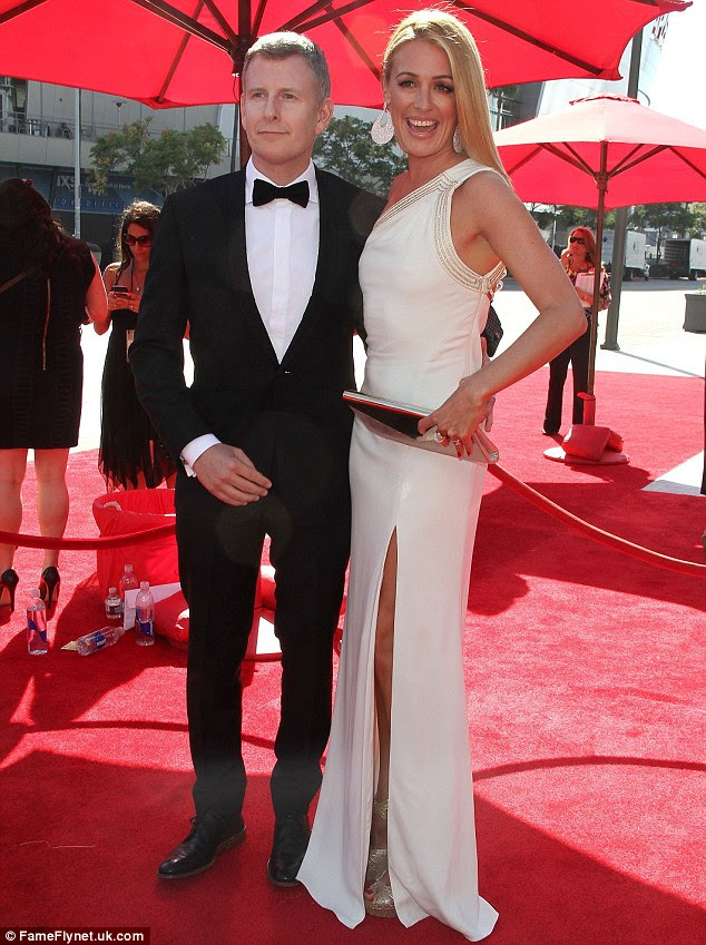 Cat Deeley mesmorises in a floor-length cream gown at the Creative ...