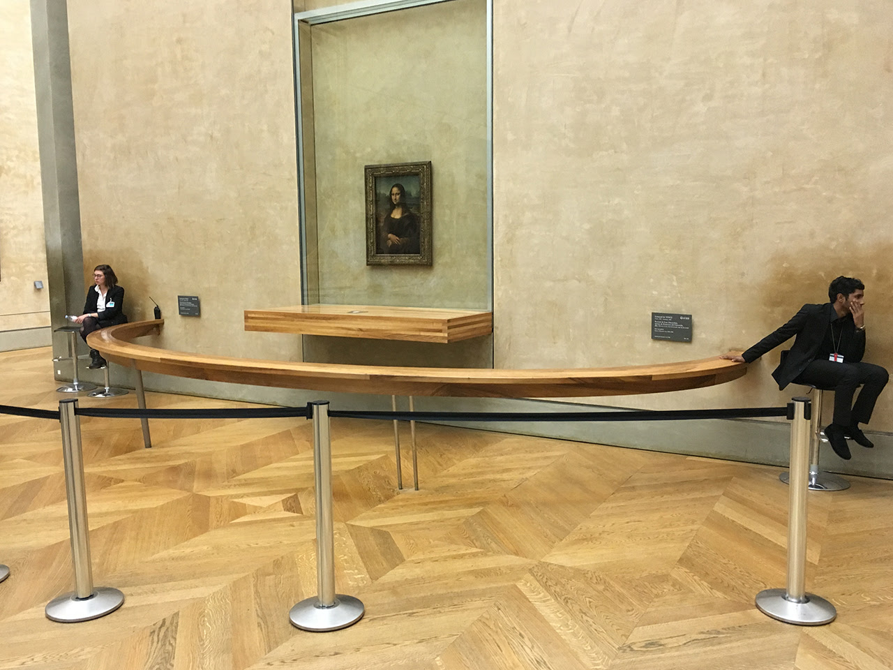 The Mona Lisa lacking for visitors at the Louvre (photo by Rob Colvin for Hyperallergic)