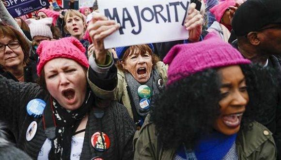 La Marcha de las Mujeres convoca a miles de personas contra Donald Trump en Washington. Foto: AP.