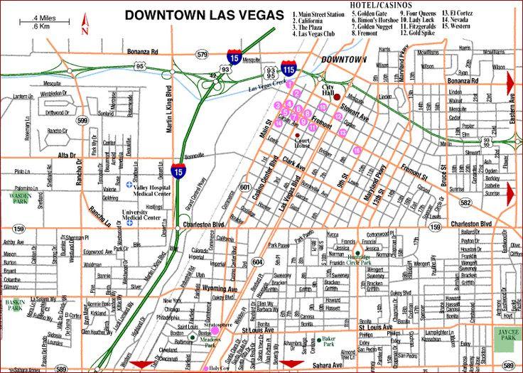 12 Best Las Vegas Maps Images On Pinterest Las Vegas