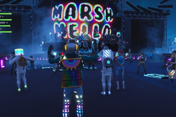 9836d73e0a1e1f A Brand New Stage  Marshmello s Fortnite Performance Smashes Records With  10MM Simultaneous Players