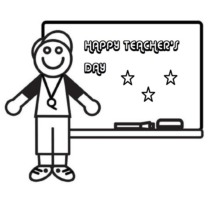Happy Teachers Day Drawing Card